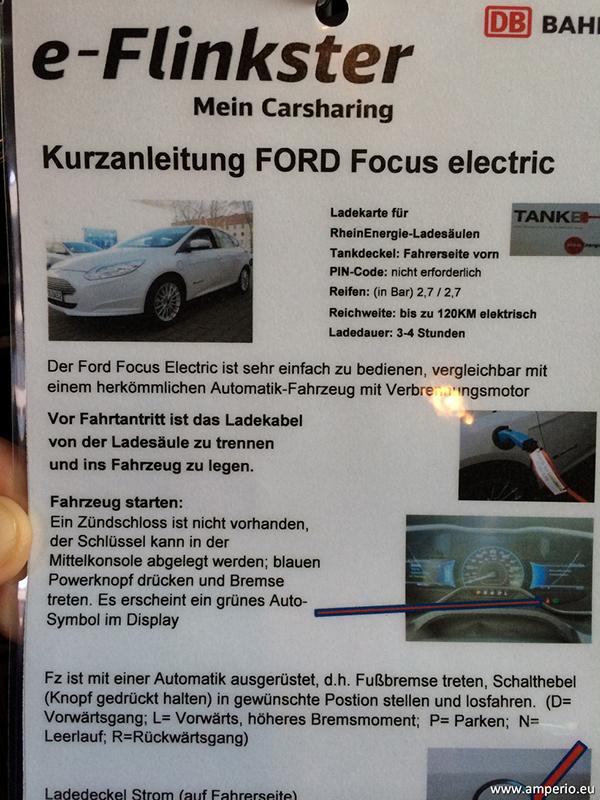 8. So bedient man ein elecktrische CarSharing Fahrzeug