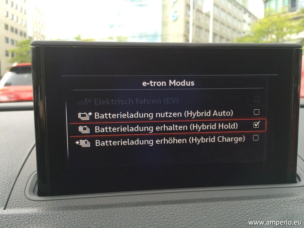 4. Der Hybrid Modus ist neu. Rein elektrisch max. 50 Km 4 e-tron Modi sind möglich