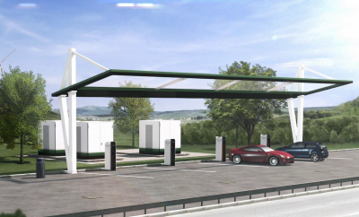 enercon e 600 concept Konzept bild mit Tesla und e auto strasse
