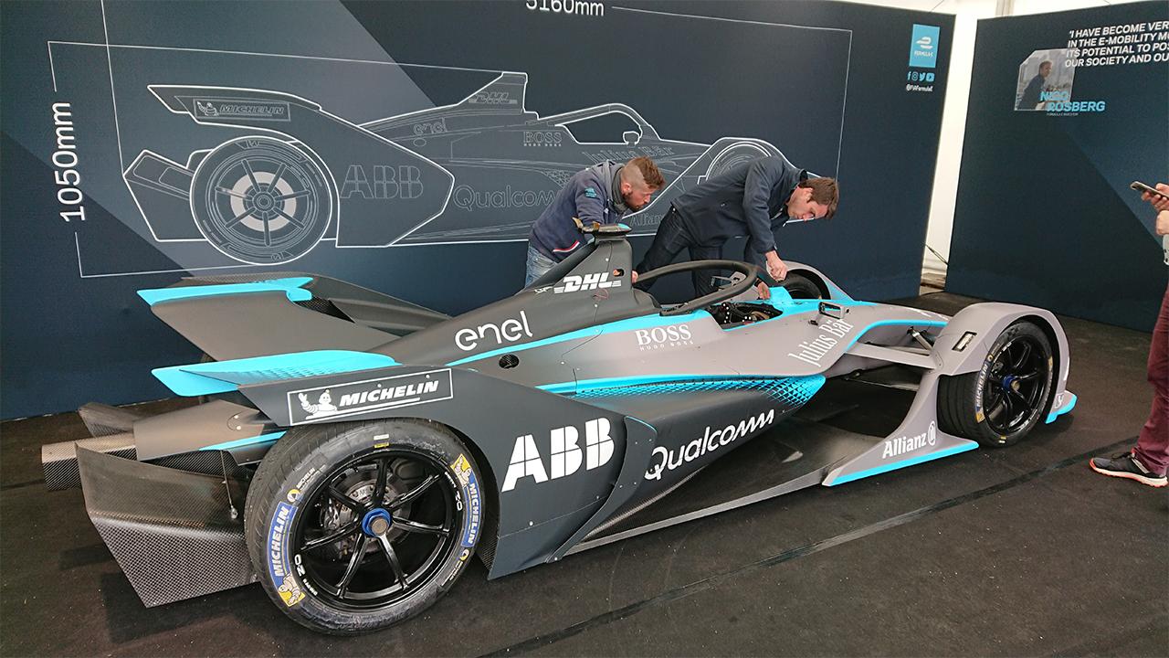 Berlin E-Prix Elektroauto-Rennsport amperio